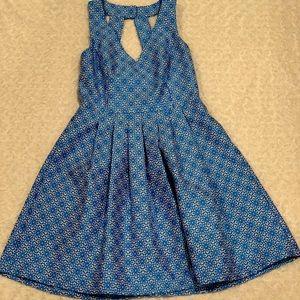 Banana Republic fit & flare pleated dress w/pocket